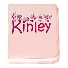 Kinley in ASL baby blanket