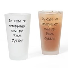 IN CASE OF EMERGENCY FEED ME PEACH  Drinking Glass