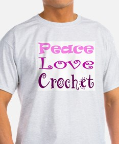 Unique Peace love crochet T-Shirt