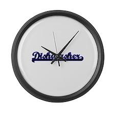 Dishwasher Classic Job Design Large Wall Clock