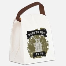 Birthday 1975 Born To Ride Canvas Lunch Bag
