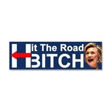 Hit The Road Bitch Car Magnet 10 X 3