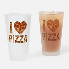 I LOVE PIZZA Drinking Glass