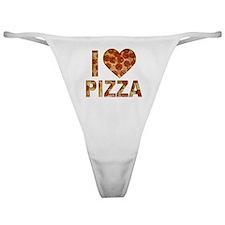 I LOVE PIZZA Classic Thong