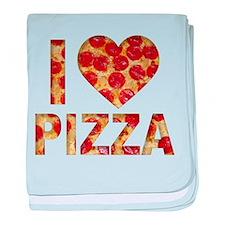I LOVE PIZZA baby blanket