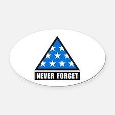 Never Foget Oval Car Magnet