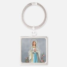 Blessed Virgin Mary Square Keychain