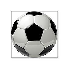 "Cute Soccer Square Sticker 3"" x 3"""
