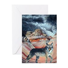 coyote at The Wave2.jpg Greeting Cards