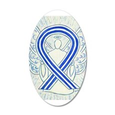 ALS Awareness Ribbon Angel Wall Decal