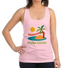 Retired Personal Assistant Racerback Tank Top