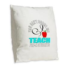 Pre-k teacher Burlap Throw Pillow