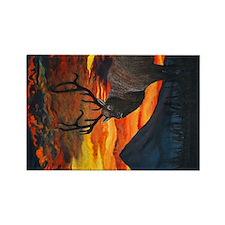 Elk at Sunset Magnets