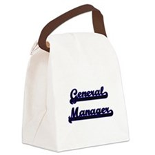 General Manager Classic Job Desig Canvas Lunch Bag