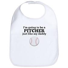Pitcher Like My Daddy Bib