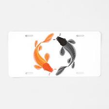 Japanese Koi Aluminum License Plate