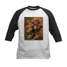 Roses in a Vase by Renoir Baseball Jersey