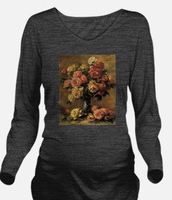 Roses in a Vase by R Long Sleeve Maternity T-Shirt