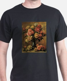 Roses in a Vase by Renoir T-Shirt