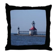 Unique Lighthouse, great lakes Throw Pillow