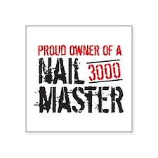 """Nailmaster Metal Detecting Square Sticker 3"""""""