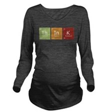 Cute Periodic Long Sleeve Maternity T-Shirt