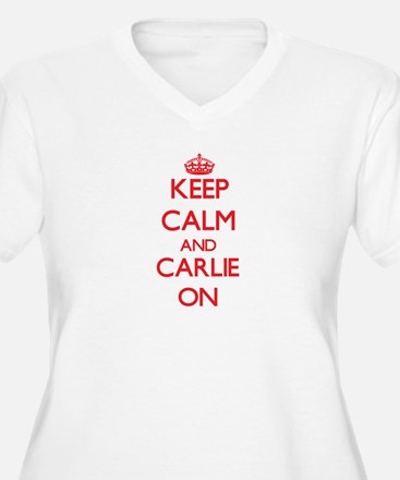 Keep Calm and Carlie ON Plus Size T-Shirt