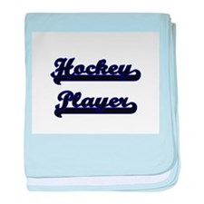 Hockey Player Classic Job Design baby blanket