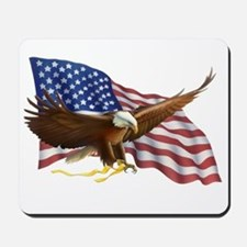 American Flag and Eagle Mousepad