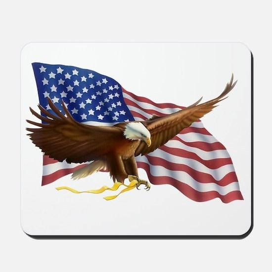 American Flag and Eagle Mousepad