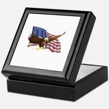 American Flag and Eagle Keepsake Box