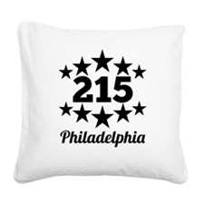 215 Philadelphia Square Canvas Pillow