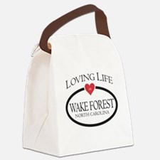 Loving Life in Wake Forest, NC Canvas Lunch Bag