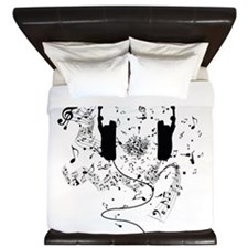 Unique Music notes King Duvet