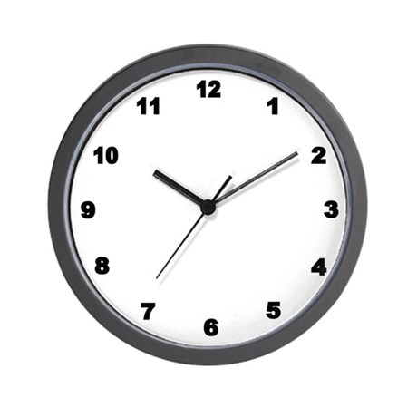 Black Number Clock Wall Clock By Admin Cp11861778