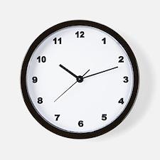 Black Number Clock Wall Clock