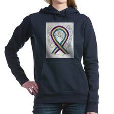 Bladder Cancer Awareness Ribbon Women's Hooded Swe