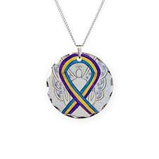 Bladder Cancer Awareness Ribbon Necklace