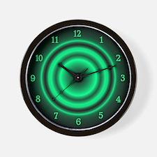 Green Target Twelve Number Wall Clock