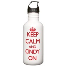 Keep Calm and Cindy ON Water Bottle