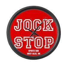 Jock Stop Sports Bar Large Wall Clock