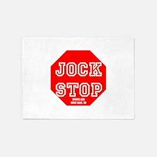 Jock Stop Sports Bar 5'x7'Area Rug