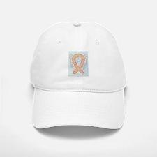 Peach Awareness Ribbon Angel Baseball Baseball Baseball Cap