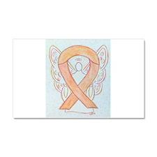 Peach Awareness Ribbon Angel Car Magnet 20 x 12