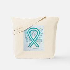 Cervical Cancer Awareness Ribbon Tote Bag