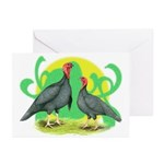 Blue Slate Turkeys2 Greeting Cards (Pk of 10)