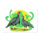 Blue Slate Turkeys2 Postcards (Package of 8)