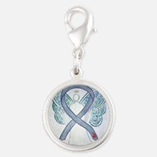 Diabetes Awareness Ribbon Angel Charms