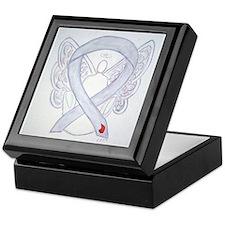 Diabetes Awareness Ribbon Angel Keepsake Box