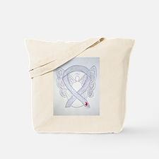 Diabetes Awareness Ribbon Angel Tote Bag